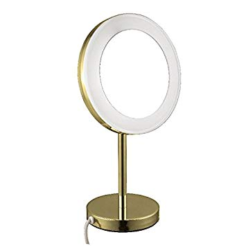 NAMEEKS AR7712-3X GLIMMER FREE STANDING LIGHTED 3X MAKEUP MIRROR