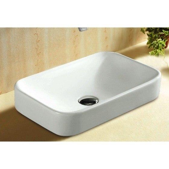 Caracalla CA4120A-No Hole Ceramica 20 Inch Rectangular White Ceramic Self Rimming Bathroom Sink