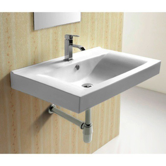 CARACALLA CA4270B-ONE HOLE CERAMICA 32 INCH RECTANGULAR WHITE CERAMIC WALL MOUNTED BATHROOM SINK