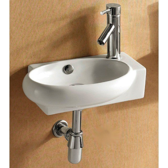 Caracalla CA4522B-One Hole Ceramica 18 Inch Round White Ceramic Wall Mounted or Vessel Bathroom Sink