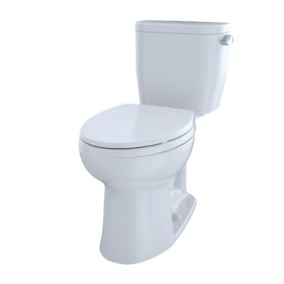 TOTO CST244EFR#01 ENTRADA 1.28 GPF TWO-PIECE ELONGATED TOILET WITH RIGHT HAND TRIP LEVER, LESS SEAT