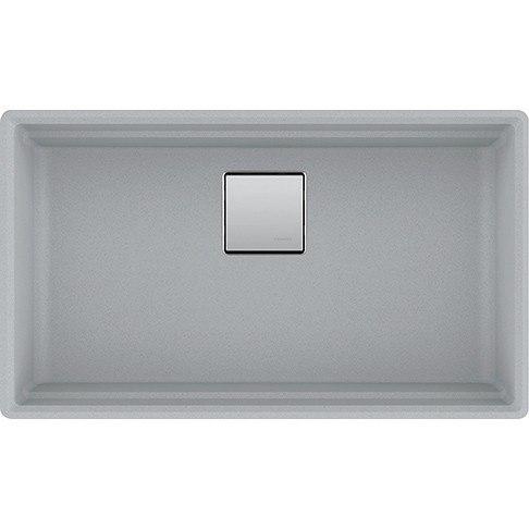 Franke PKG11031SHG Peak 32 Inch Undermount Single Bowl Granite Kitchen Sink in Shadow Grey