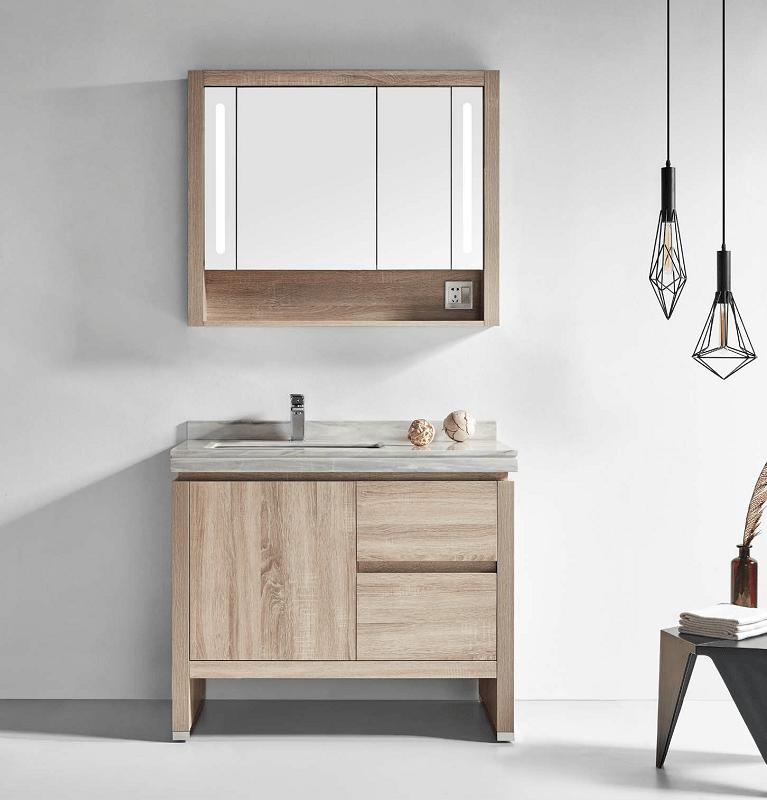 Flawless Py1312a Oak Berkeley 48 Inch Single Sink Bathroom Vanity Set In Oak