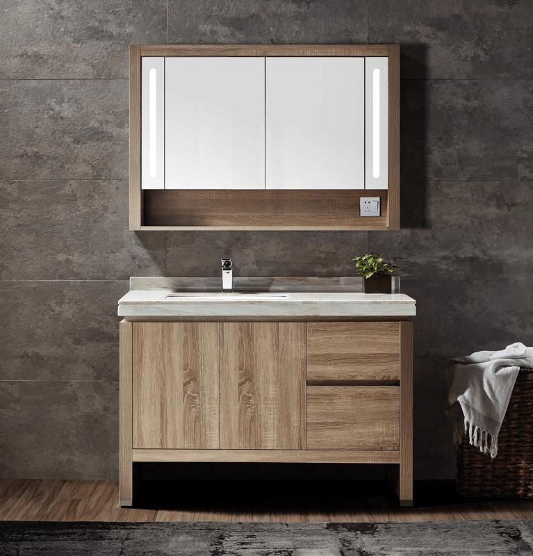 Flawless Py1312a Walnut Berkeley 48 Inch Single Sink Bathroom Vanity Set In Walnut
