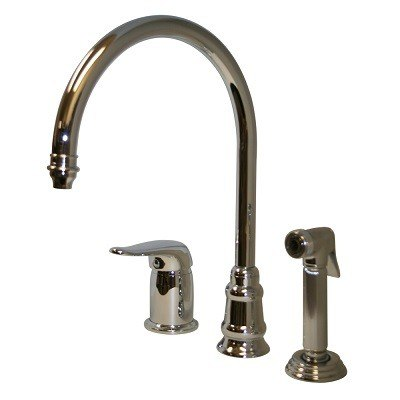 Whitehaus WH18664 Evolution Three Hole Faucet with Independent Single Lever Mixer