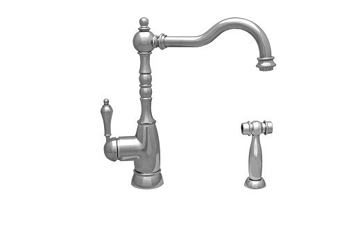 Whitehaus WHEG-34681 Englishhaus Single Lever Handle Faucet with Traditional Swivel Spout