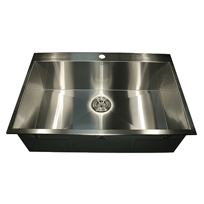rectangular kitchen sink nantucket sinks zr3322 s 16 33 inch large rectangle 1753