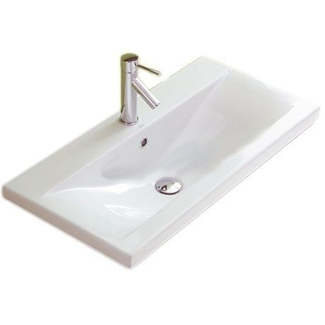 ALTHEA 30387-ONE HOLE CLEVER 39 INCH CERAMIC SINK - BEAUTIFUL - WHITE AND SELF RIMMING