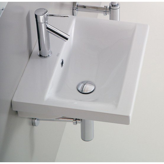 Althea 30383-One Hole Clever 24 Inch White Porcelain Sink, Designer - Self Rimming