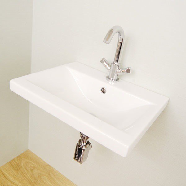 Althea 30385-One Hole Clever 32 Inch Self Rimming White Bathroom Sink - Designer, Ceramic