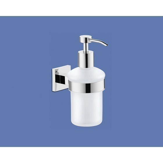 GEDY 2881-13 NEW JERSEY WALL MOUNTED FROSTED GLASS SOAP DISPENSER
