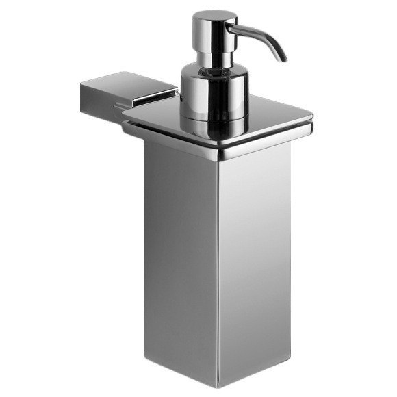 GEDY 3881-01-13 KANSAS WALL MOUNTED SQUARE POLISHED CHROME SOAP DISPENSER