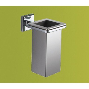 GEDY 6910-01-13 COLORADO WALL MOUNTED SQUARE POLISHED CHROME TOOTHBRUSH HOLDER