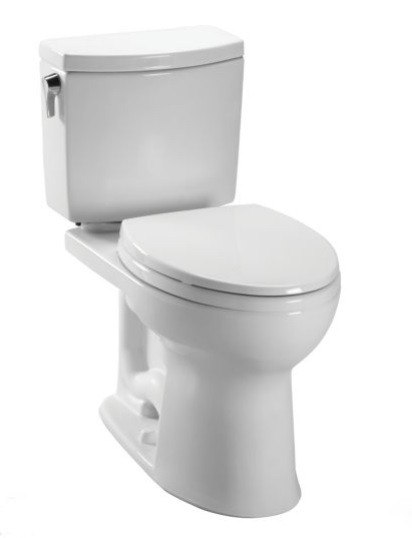Toto CST454CUFG Drake II 1 GPF Two Piece Elongated Toilet with SanaGloss Ceramic Glaze