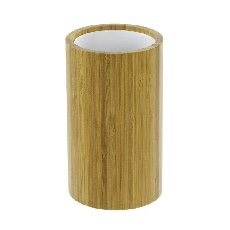 GEDY AL98-35 ALTEA ROUND NATURAL WOOD TOOTHBRUSH HOLDER
