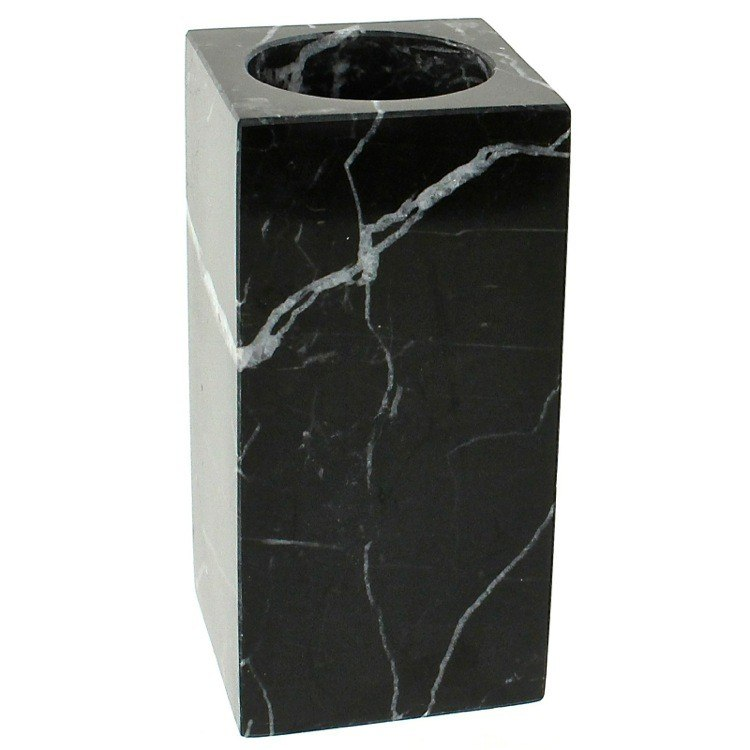 GEDY AN98-14 ANTHURIUM BLACK MARBLE TOOTHBRUSH HOLDER