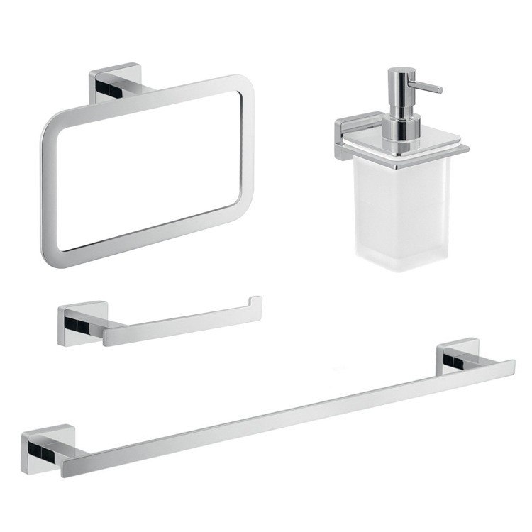 GEDY ATN104 ATENA WALL MOUNTED BATHROOM HARDWARE SET