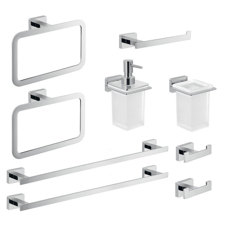 GEDY ATN106 ATENA HIS AND HER ATENA BATHROOM ACCESSORY SET