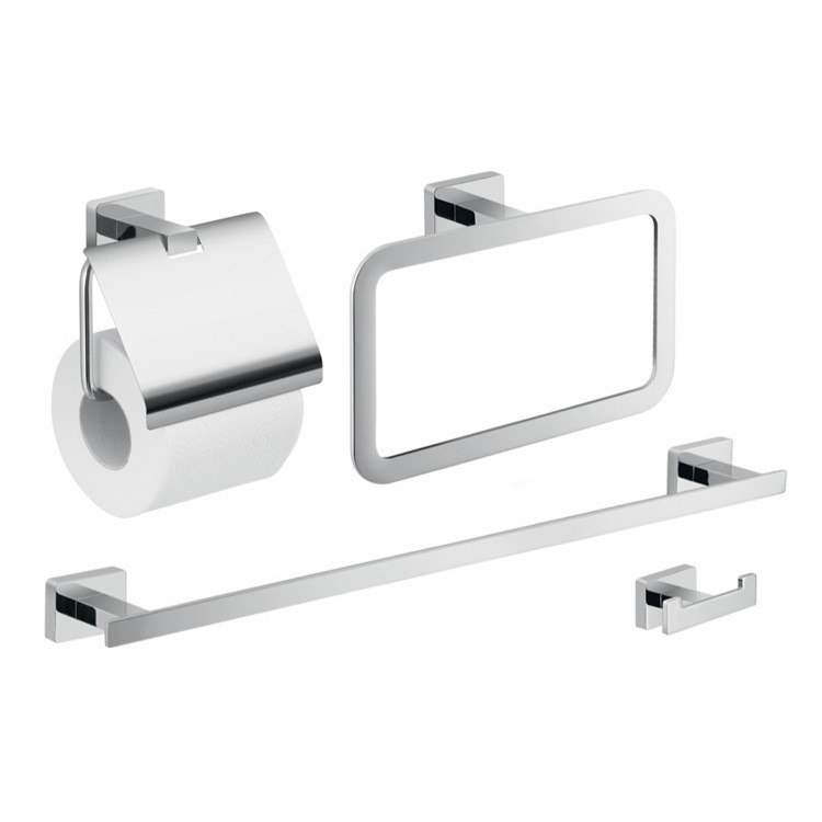 GEDY ATN107 ATENA WALL MOUNTED CHROME HARDWARE SET