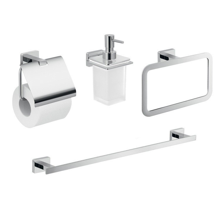 GEDY ATN111 ATENA WALL MOUNTED BATHROOM ACCESSORY SET