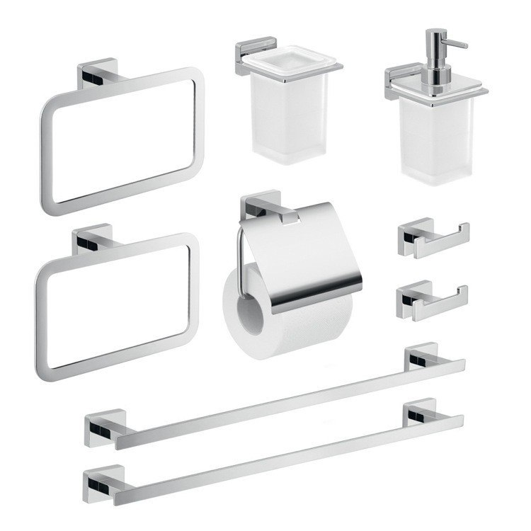 GEDY ATN112 ATENA CHROME ATENA BATHROOM ACCESSORY SET