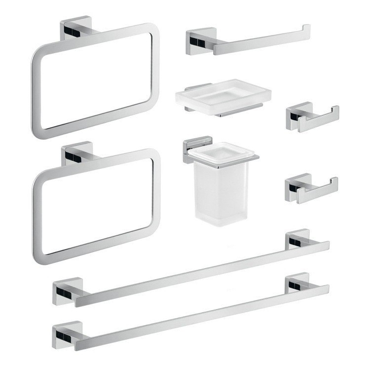GEDY ATN115 ATENA NINE PIECE CHROME ACCESSORY SET