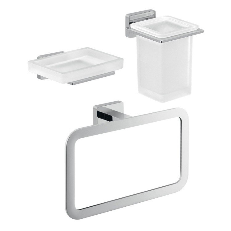 GEDY ATN203 ATENA THREE PIECE ATENA BATHROOM ACCESSORY SET