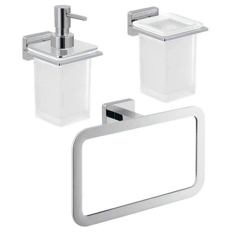 GEDY ATN204 ATENA WALL MOUNTED CHROME HARDWARE SET