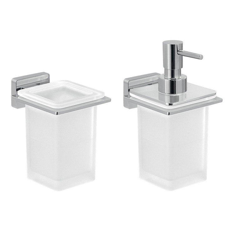 GEDY ATN502 ATENA 2 PIECE WALL MOUNTED BATHROOM ACCESSORY SET