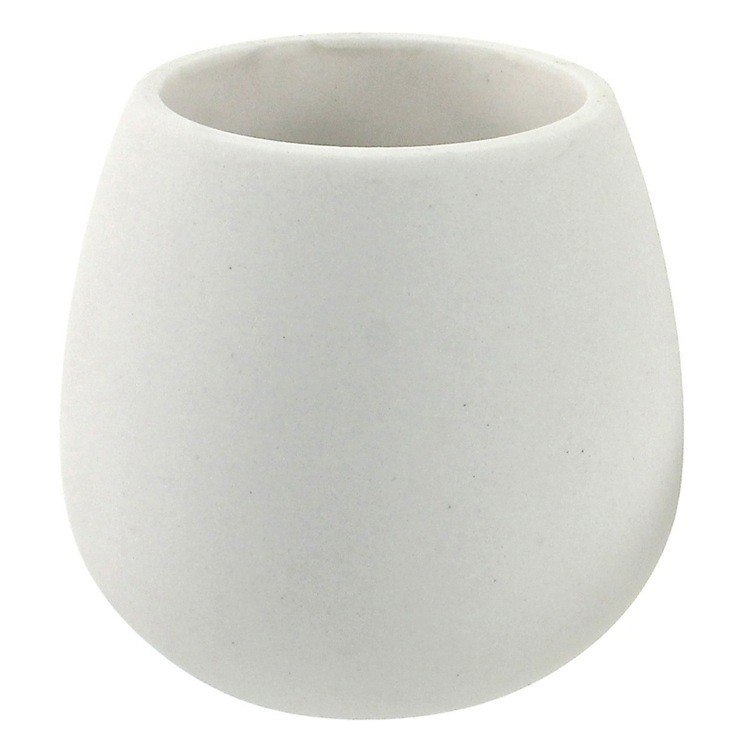 GEDY OP98-02 OPUNTIA TOOTHBRUSH HOLDER MADE FROM THERMOPLASTIC RESINS AND STONE IN WHITE FINISH