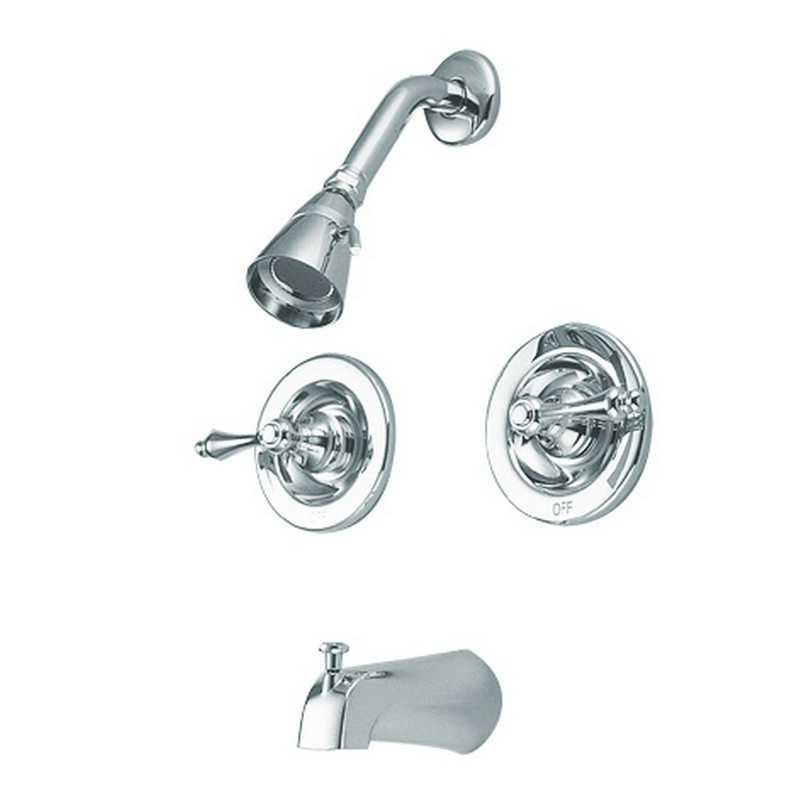 KINGSTON BRASS GKB66AL VINTAGE WATER SAVING VINTAGE TUB AND SHOWER FAUCET WITH PRESSURE BALANCED VALVE