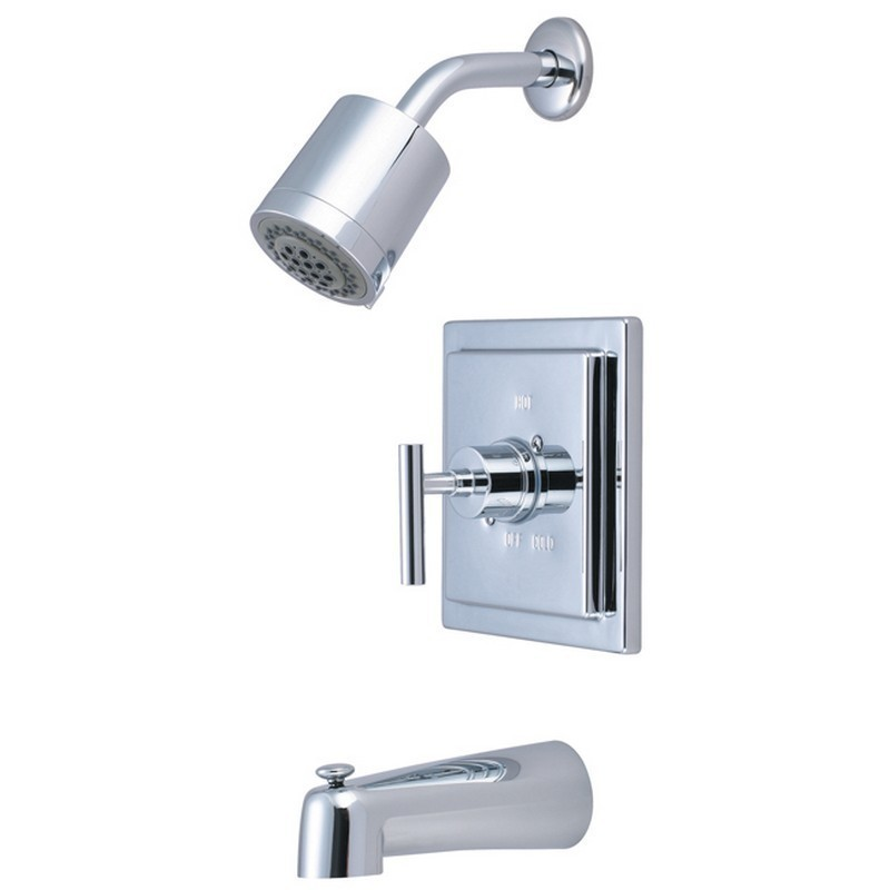KINGSTON BRASS KB4651CML MANHATTAN TUB AND SHOWER FAUCET IN POLISHED CHROME