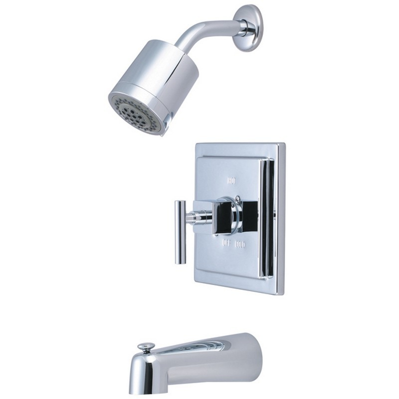 KINGSTON BRASS KB4651CQL CLAREMONT TUB AND SHOWER FAUCET IN POLISHED CHROME