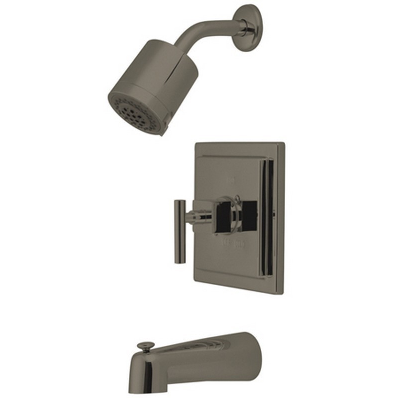 KINGSTON BRASS KB4658CQL CLAREMONT TUB AND SHOWER FAUCET IN SATIN NICKEL