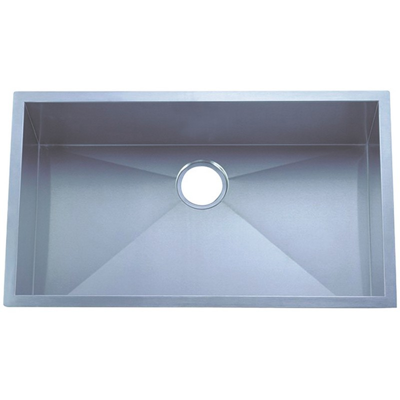 KINGSTON BRASS KUS30189BN GOURMETIER 30 INCH TOWNE SQUARE UNDERMOUNT SINGLE BOWL KITCHEN SINK IN BRUSHED