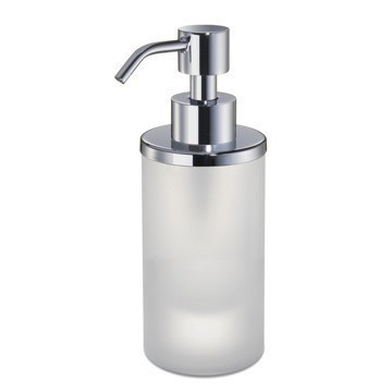 WINDISCH 90463M MINIS ROUND FROSTED CRYSTAL GLASS SOAP DISPENSER