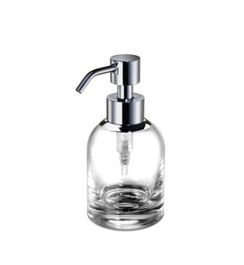 WINDISCH 90466 MINIS SMALL ROUND CLEAR CRYSTAL GLASS SOAP DISPENSER