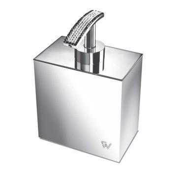 WINDISCH 90511 STARLIGHT SQUARE SQUARE SOAP DISPENSER WITH SWAROVSKI CRYSTALS ON TOP