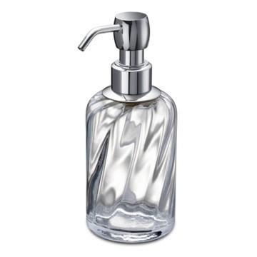 WINDISCH 90801 SPIRAL BRASS AND TWISTED GLASS SOAP DISPENSER