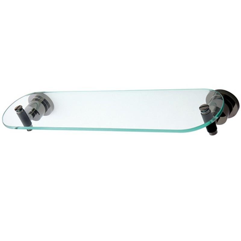 KINGSTON BRASS BA8219DKL WATER ONYX GLASS SHELF WITH 1-1/2 INCH RUBBER SLEEVE