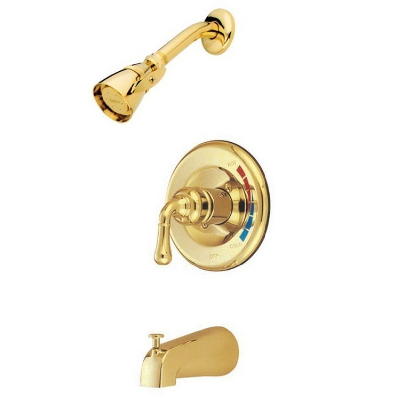 KINGSTON BRASS KB63 MAGELLAN SINGLE HANDLE OPERATION TUB AND SHOWER FAUCET