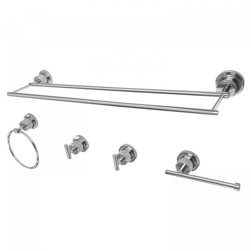 KINGSTON BRASS BAH821318478 CONCORD 5-PIECE BATHROOM ACCESSORY SET
