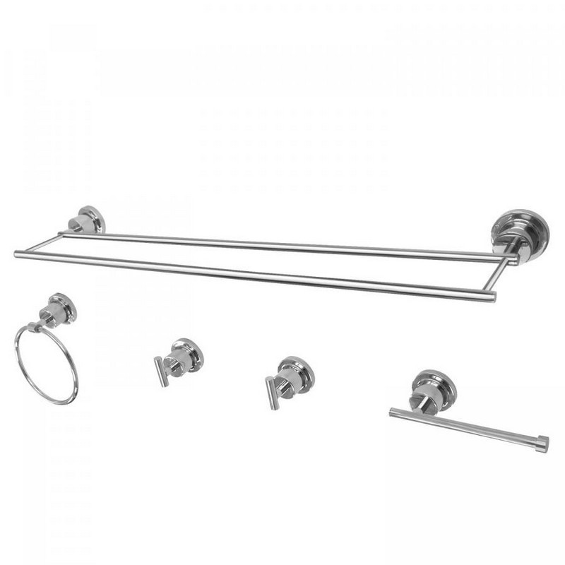 KINGSTON BRASS BAH821330478 CONCORD 5-PIECE BATHROOM ACCESSORY SET