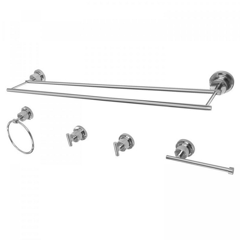 KINGSTON BRASS BAH8213478 CONCORD 5-PIECE BATHROOM ACCESSORY SETS