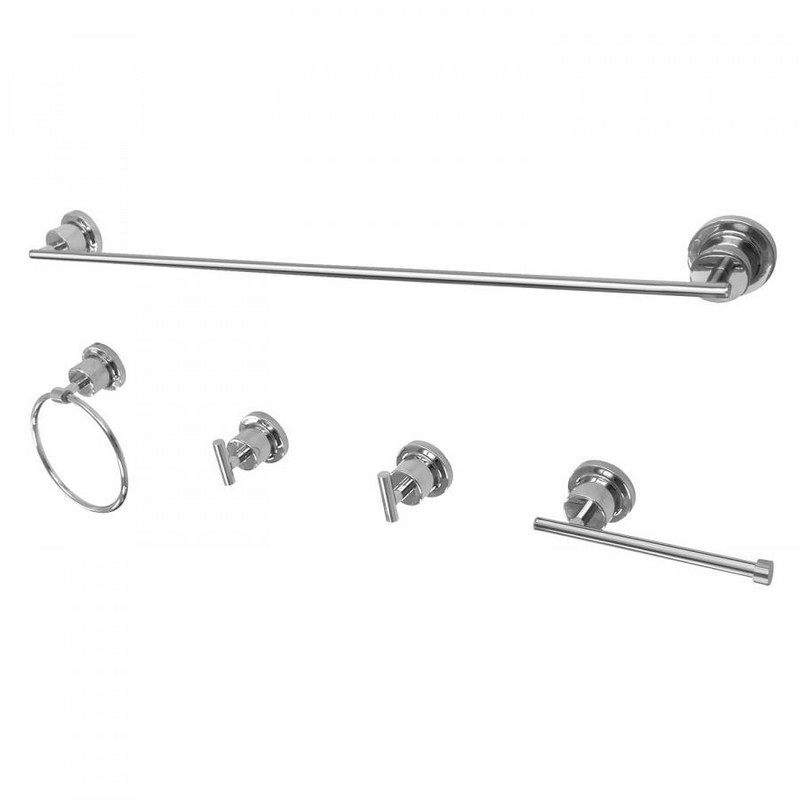 KINGSTON BRASS BAH8230478 CONCORD 5-PIECE BATHROOM ACCESSORY SET