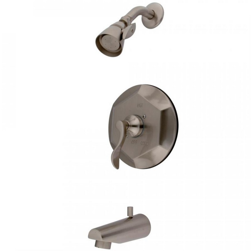 KINGSTON BRASS KB4638DFL TUB AND SHOWER FAUCET IN BRUSHED NICKEL