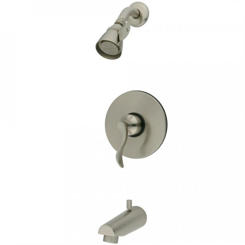 KINGSTON BRASS KB8698DFL TUB AND SHOWER FAUCET IN BRUSHED NICKEL