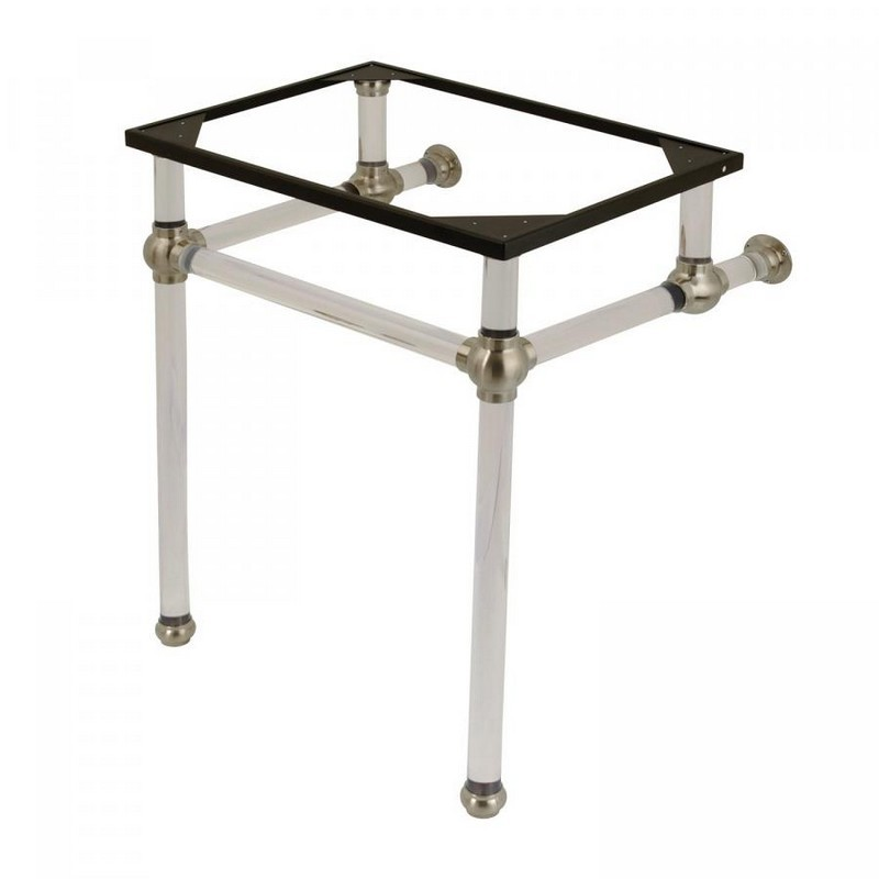 KINGSTON BRASS VAH242030 FAUCETURE TEMPLETON CONSOLE BASIN HOLDER WITH ACRYLIC PEDESTAL