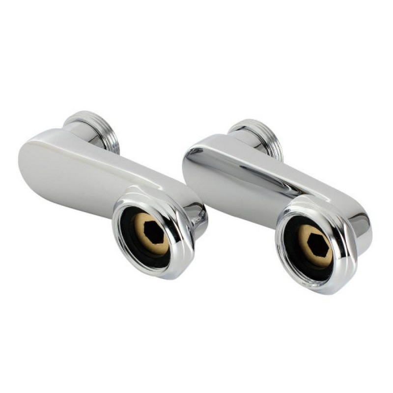 KINGSTON BRASS AET135-1 VINTAGE SWING ARMS FOR WALL MOUNT CLAWFOOT TUB FAUCET IN POLISHED CHROME
