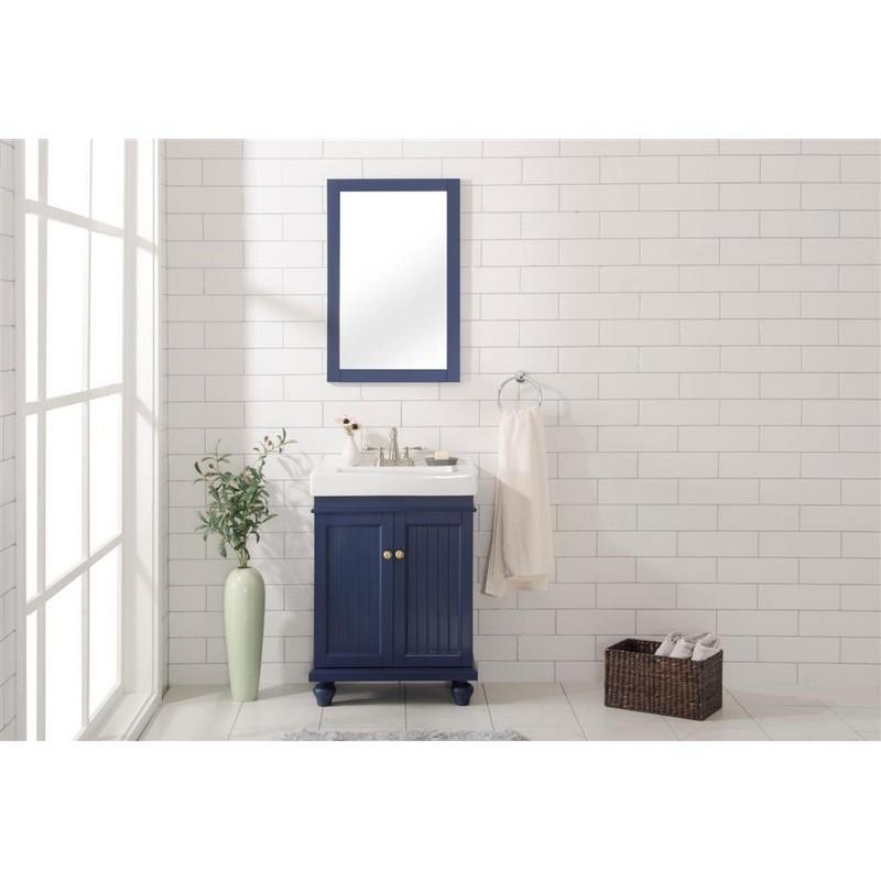 Wlf9324 B 24 Inch Blue Sink Vanity